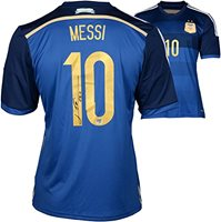 newest 6ea9f b9dfe Lionel Messi Argentina Autographed Blue Jersey - Fanatics Authentic  Certified - Autographed Soccer Jerseys