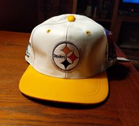 New Vintage NFL 4 Time Champions PITTSBURGH STEELERS Leather Hat Cap One  Size 27c5c27fa