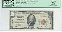 "1929 $20 CHARTER 12704 ""THE GRAYS HARBOR NB OF ABERDEEN WASHINGTON"""