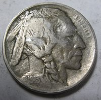 1913 D D early Buffalo Nickel Extremely Fine