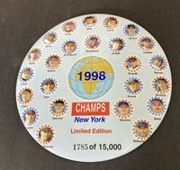 "1998 NEW YORK YANKEES World Series CHAMPS 6"" BUTTON PIN Limited Edition #1785"
