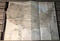 """23.5"""" x 16.5"""" 1988 NATIONAL PARK SYSTEM MAP AND GUIDE USA AMERICANA INTERIOR DPT"""