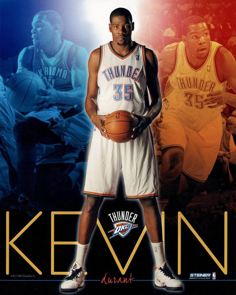 separation shoes 1d891 0979c Kevin Durant Oklahoma City Thunder Team Colors Composite Vertical 16x20  Photo uns