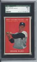 1961 TOPPS ROGER MARIS #478-SGC GRADED EX 60