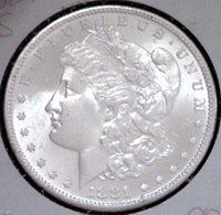 1881 S Morgan Dollar in MS64 Condition