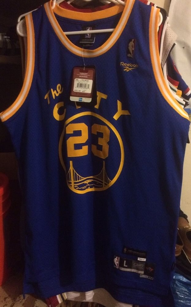 low priced 9bd8b 90913 Jason Richardson Golden State Warriors Jersey Hwc Men L Sewn NBA Nwt Curry  #23