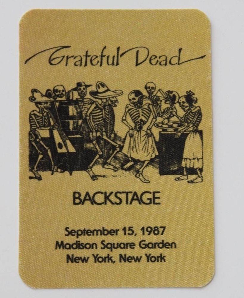 Grateful Dead Backstage Pass 9-15-87 Madison Square Gar