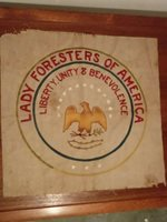 LADY FORESTERS OF AMERICA FLAG BANNER EAGLE AMERICANA LIBERTY UNITY BENEVOLENCE