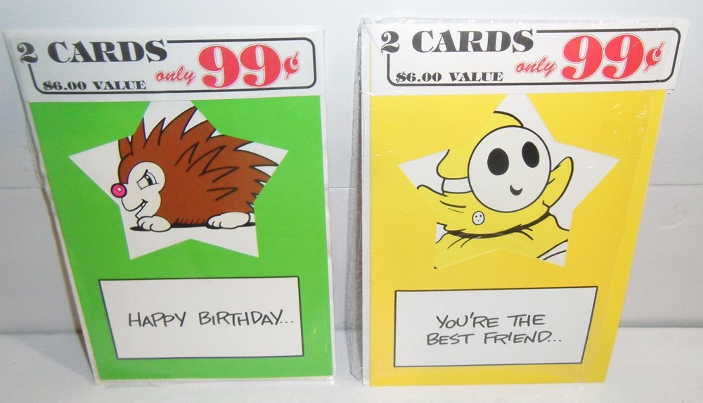 Nintendo Mario Bros 2 Era Greeting Card Pack Lot Of 4