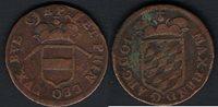 Liard 1650 1688 Liège Maximilien-henri de Bavière Bronze