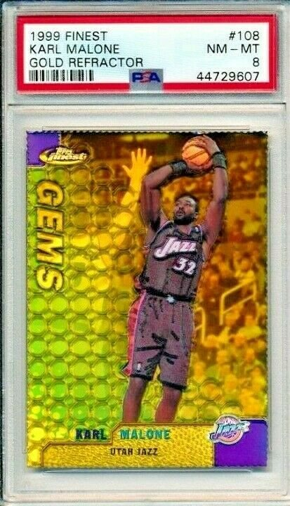 auction prices realized basketball cards 1999 finest karl