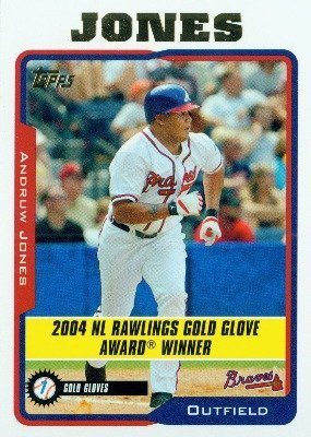 2005 Topps Baseball Card 711 Andruw Jones Atlanta Braves