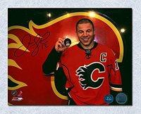 Autographed Signed Jarome Iginla Calgary Flames 500Th Career Goal 8 x 10 Photo - Autographed NHL Photos
