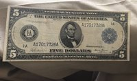 1914 Federal reserve note Boston district Burke Glass VF / XF