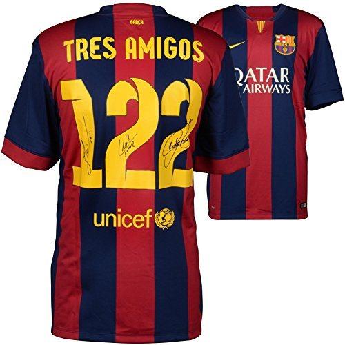new arrival 1d4bc d7142 Lionel Messi, Neymar, Luis Suarez Barcelona Autographed Tres Amigos Jersey  - Fanatics Authentic Certified