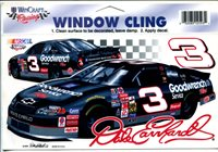 Dale Earnhardt Window Cling-NASCAR-Goodwrench #3 Chevy