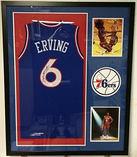 1c41c356f2fd Julius  DR. J  Erving Autographed Custom Framed Philadelphia 76ers Jersey  JSA Witnessed COA. Click To Enlarge