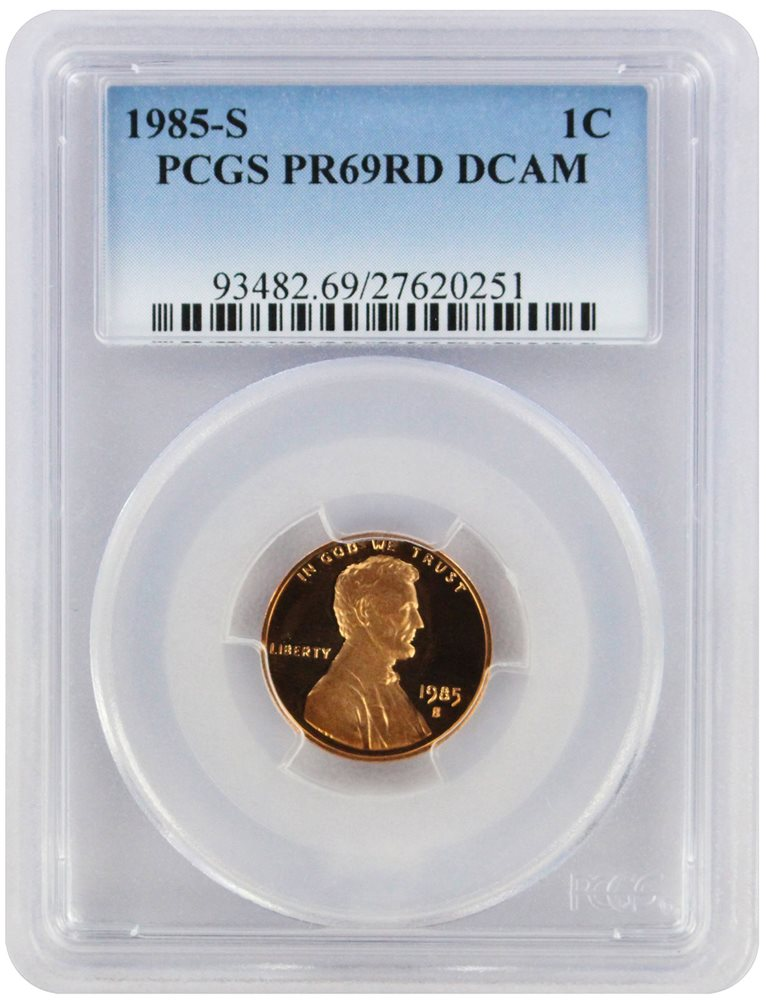 1987-S Lincoln Cent PR69RD DCAM PCGS Proof 69 Red Deep Cameo