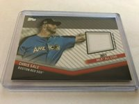 2020 Topps Update 2017 All-Star Patch Relic Chris Sale Boston Red Sox ASSC-CSA