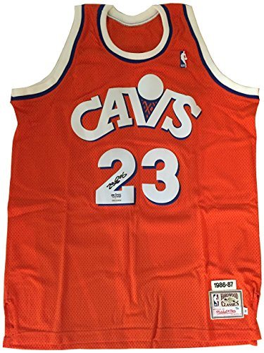 super popular a40b7 aa518 Rare LeBron James UDA Signed Cleveland Cavs 86-87 Mitchell Ness Limited  Edition Retro Jersey