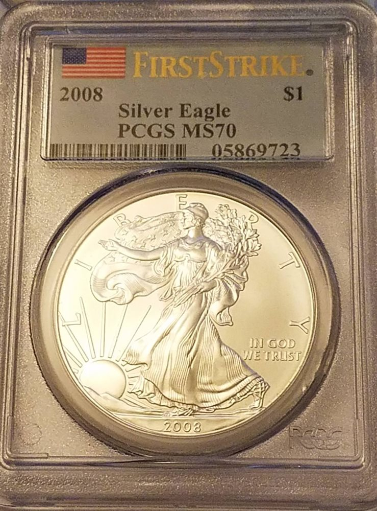 2020 1oz Silver Eagle PCGS MS69 First Day Issue Statue Of Liberty Frame