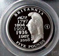 2010 PALLADIUM TRISTAN DA CUNHA 5 POUNDS PCGS GEM PROOF DEEP CAMEO HIGH RELIEF ONLY 399 MINTED