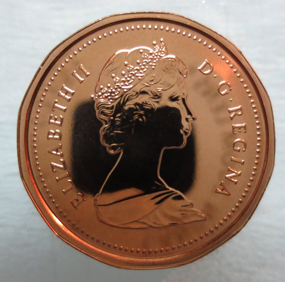 1987-PL Proof-Like Penny 1 One Cent /'87 Canada//Canadian BU Coin UNC