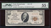 AC 1929 $10 First NB of York, Pennsylvania PMG 55 EPQ Type I Ch #197