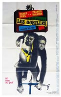 Poster Folded 39 3/8x63in The Apes (1964) Darry Cowl , Francis Blanche Be