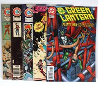 Lot of 5 Vintage Comic Books Green Lantern E-Man Billy The Kid Doomsday New Wave