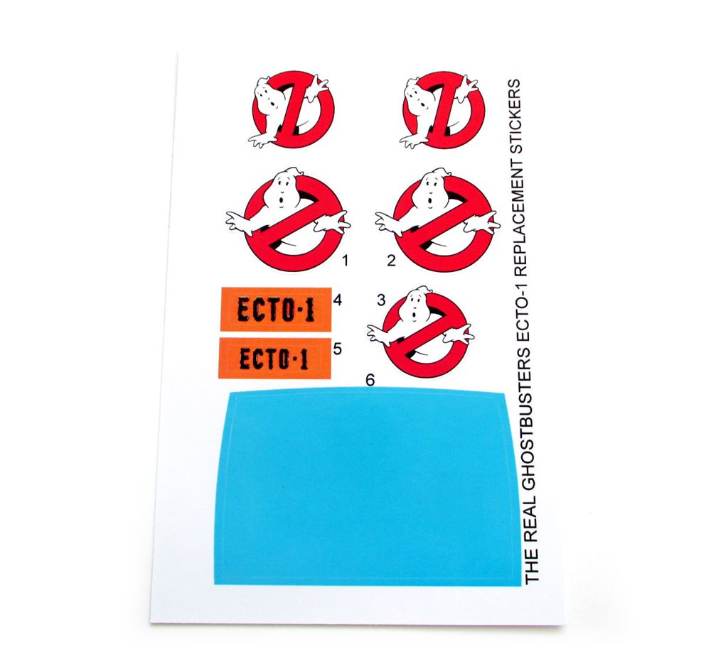 Kenner The Real  Ghostbusters 2 Ecto 1 Replacement Stickers B2G1F