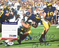 KARAN HIGDON SIGNED AUTOGRAPH MICHIGAN WOLVERINES 8X10 PHOTO PSA/DNA COA