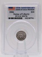 2006 PCGS MS70 $10 Platinum American Eagle