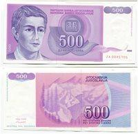 Yugoslavia P 113 ZA - 1992 - 500 Dinaras Replacement Note Money Currency - RARE