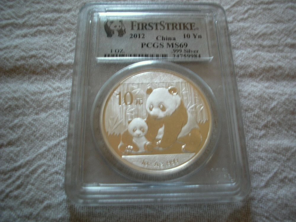 2012 China 10 Yuan Silver Panda PCGS MS-69 First Strike 176965