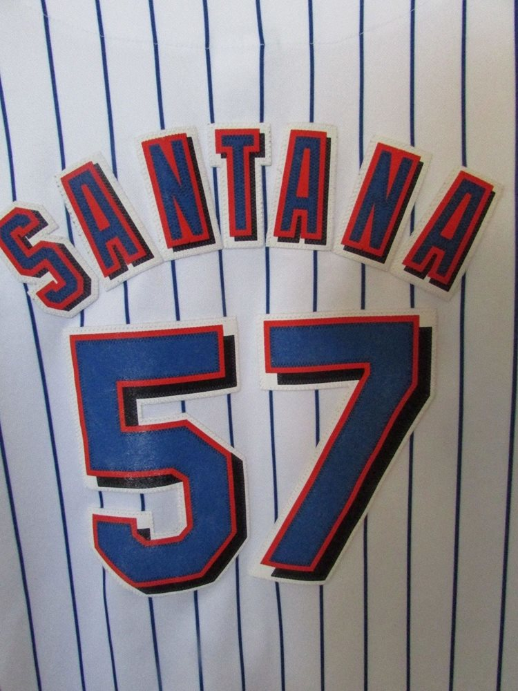 detailed look cffad 95f65 MLB New York Mets Johan Santana #57 Replica Jersey by Majestic Size Youth  Large