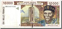 10,000 Francs West African States Banknote, 1996, Km:114ad