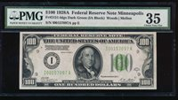 Fr. 2151-I 1928A $100 Federal Reserve Note Minneapolis PMG 35 I00157097A