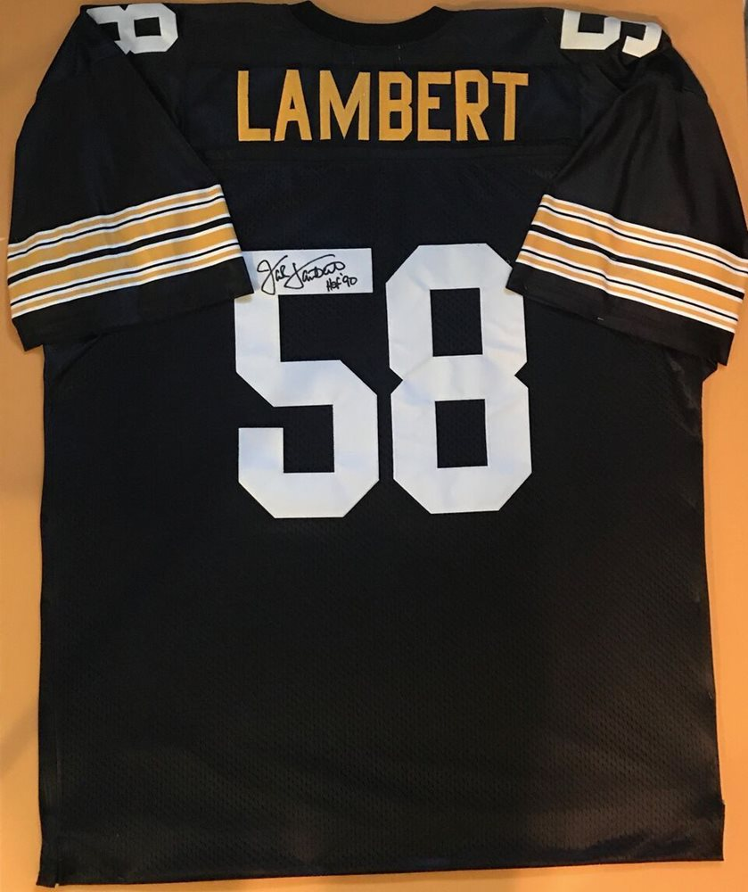new concept 1459b 5790c Autographed Jack Lambert Jersey Pittsburgh Steelers/PSA NFL