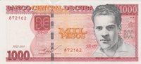 Cuba 1000 Pesos 2010 Unc Pick#132