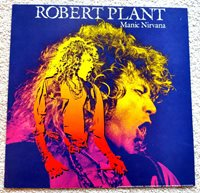 RARE 1980's ROBERT PLANT MANIC NIRVANA 1X1 POSTER FLAT POSTER- BEAUTIFUL & MINT!