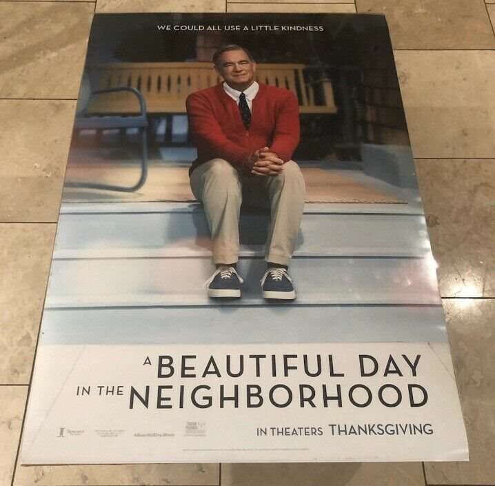 24x36 27x40 A Beautiful Day in the Neighborhood Movie 2019 Fabric Poster D-308