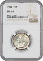 1932 25c NGC MS64 - Washington Quarter