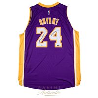 bac62290bf9 Kobe Bryant Autographed Purple Lakers Swingman Jersey w
