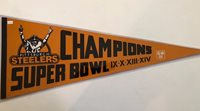 PITTSBURGH STEELERS VINTAGE 1970 S 4 TIMES SUPER BOWL CHAMPIONS PENNANT 7c62616ef