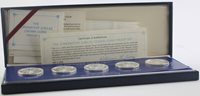 1978 Sterling Silver Proof Set Coronation Jubilee Franklin Mint 5 Crown Coin Set
