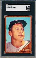 1962 Topps Baseball- #200 Mickey Mantle, Yankees- SGC 6 (Ex-NM)