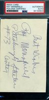 Ray Mansfield Steelers PSA DNA Coa Autograph Hand Signed 3x5 Index Card