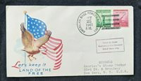 1941 American Base Forces APO 801 Illustrated Cover to New York City