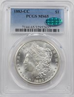 1883-CC PCGS MS65 CAC MORGAN DOLLAR